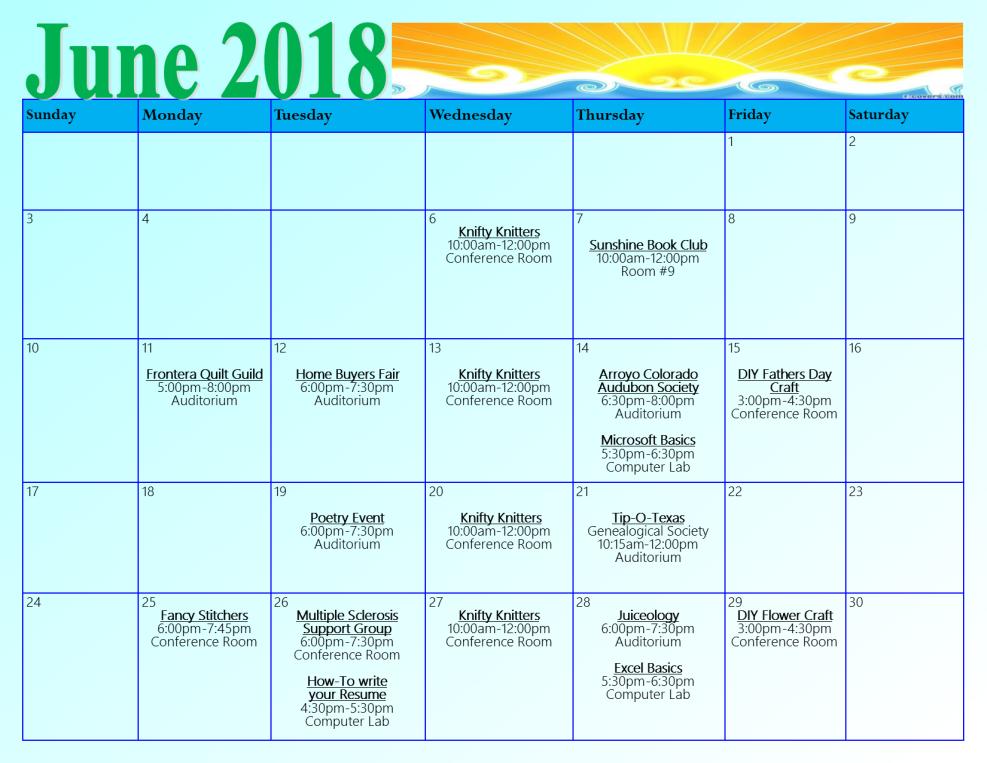 june ref calendar